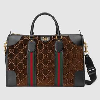 Gucci Medium GG velvet duffle