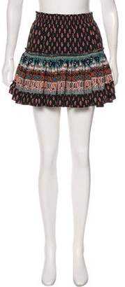 MISA Los Angeles Printed Mini Skirt