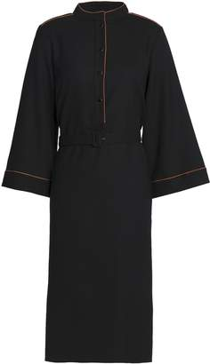 Vanessa Seward Belted Stretch Wool-crepe Dress