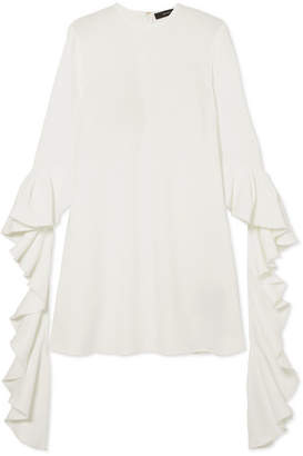 Ellery Kilkenny Ruffled Crepe Mini Dress - Ivory