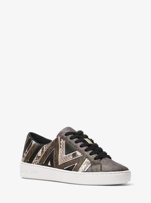 MICHAEL Michael Kors Whitney Logo Mixed-Media Sneaker