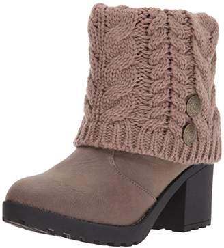 Muk Luks Women's Christa Heeled Boots Wheeled Heel Shoe