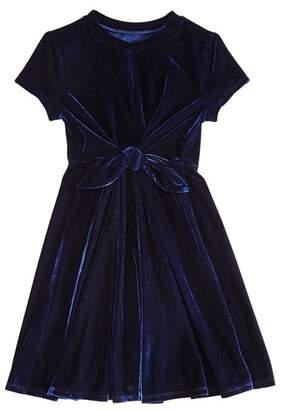 Aqua Girls' Tie-Front Velvet Dress, Big Kid - 100% Exclusive