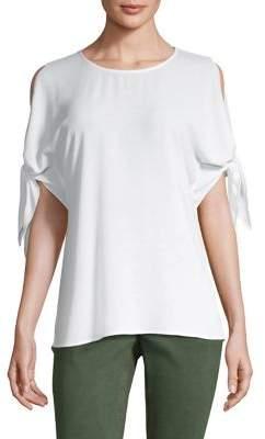 MICHAEL Michael Kors Cold-Shoulder Bow Top