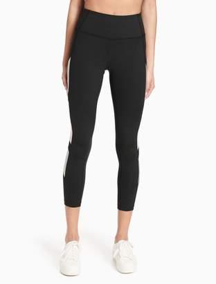 Calvin Klein metallic colorblock high waist cropped leggings