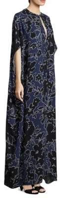 Michael Kors Women's Silk Floral Caftan Dress - Sapphire