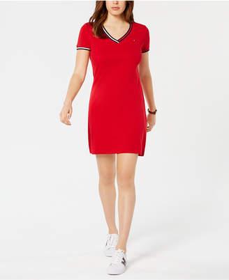 Tommy Hilfiger Cotton Logo T-Shirt Dress