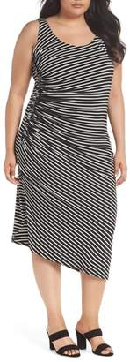 Vince Camuto Amalfi Side Ruched Stripe Body-Con Dress