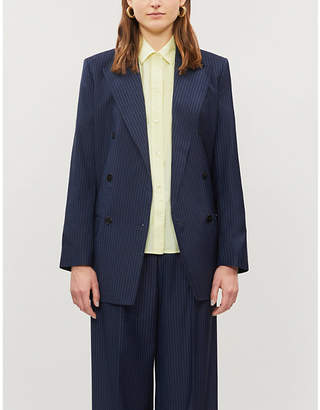Vince Boxy-fit cotton and silk-blend shirt
