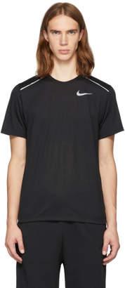 Nike Black Rise 365 Running T-Shirt