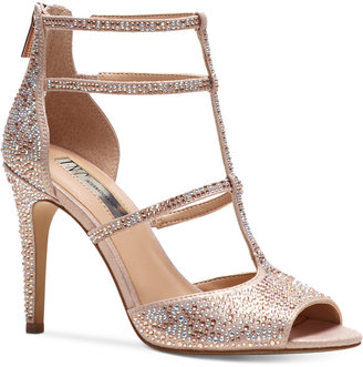 Inc International Concepts Raechie Embellished Evening Sandals, Only at Macy's Women's Shoes $99.50 thestylecure.com