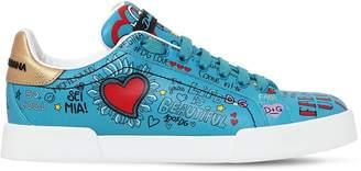 Dolce & Gabbana 20mm Graffiti Leather Sneakers