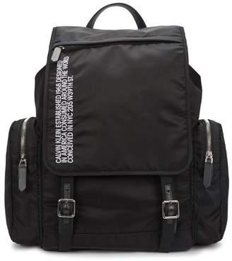 Calvin Klein Black Embroidered Backpack
