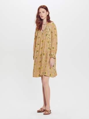 Natalie Martin Fiore Short Rayon Dress - Vintage Flowers Gold