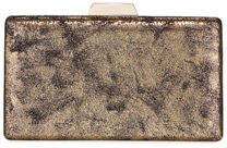 Neiman Marcus Burnished Velvet Box Clutch Bag