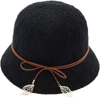 758803d818c29 Cloche doublebulls hats Bucket Hat Hat Ladies Girls Bowknot Outdoor Beach  Summer Sun Hat