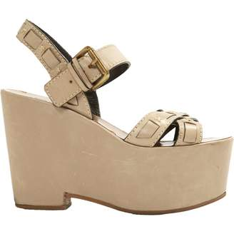 Santoni Leather sandals