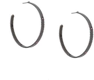 Gunmetal Hoop Earrings Style Uk