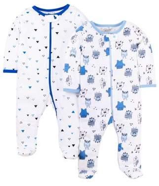 2e1c08952 N. Little Star Organic Sleep 'n play, 2-pack (baby boys