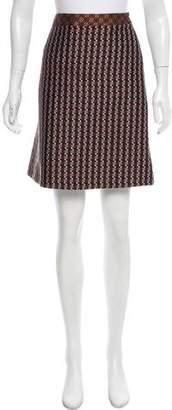 Gianfranco Ferre Jacquard Knee-Length Skirt
