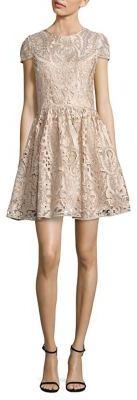 Alice + Olivia Gracia Lace Fit-&-Flare Dress $595 thestylecure.com
