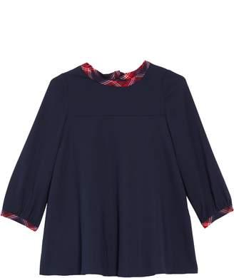 Oscar de la Renta Stretch Silk Georgette Swing Dress