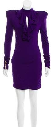Balmain Structured Long Sleeve Dress w/ Tags