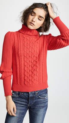 Bop Basics Cable Knit Turtleneck Sweater