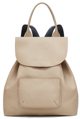 Elizabeth And James 'Langley' Pebbled Leather Backpack - White $495 thestylecure.com