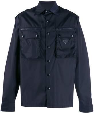 Prada flap pocket shirt jacket