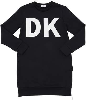 DKNY Logo Printed Neoprene Dress