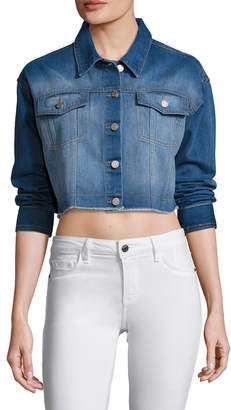 Eight Dreams Shrunken Rider Cropped Denim Jacket