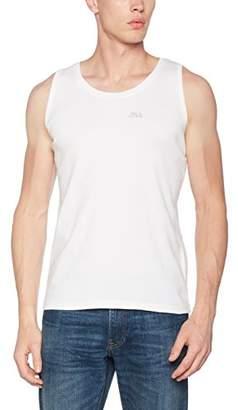 Rica Lewis Men's CQ149DU Regular Fit Plain Round Collar Sleeveless Tank Top - White - XX