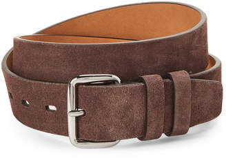 Cole Haan Chestnut Leather Double Keeper Belt