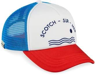 Scotch & Soda Pool Side Logo Trucker Cap