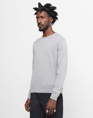 The Idle Man Knitted Crew Neck Jumper Grey