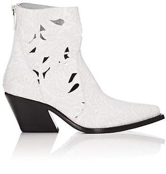 Givenchy Women's Laser-Cut Leather Ankle Boots - White