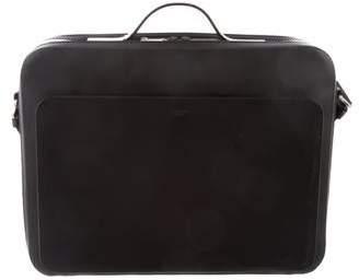Calvin Klein Collection Rubberized Briefcase Messenger Bag
