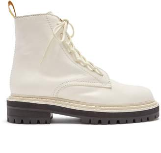 Proenza Schouler High-top leather combat boots