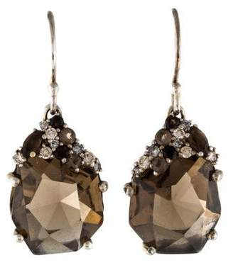 Alexis Bittar Smoky Quartz & Diamond Drop Earrings