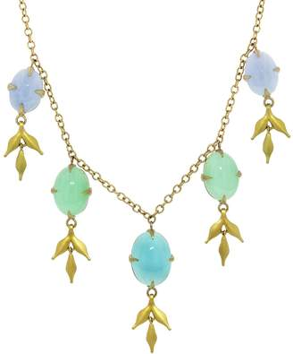 Cathy Waterman Opal And Chrysoprase Lyrical Wheat Necklace