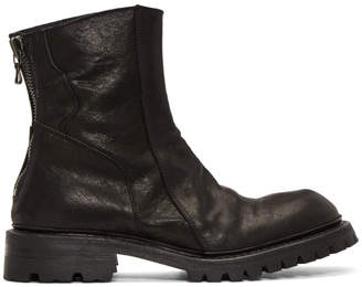 Julius Black Slashing Engineer Boots