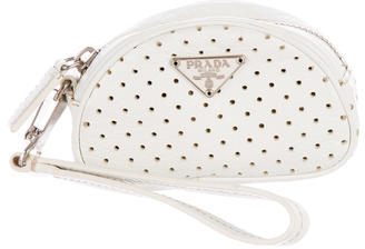 prada Prada Perforated Nappa Coin Purse