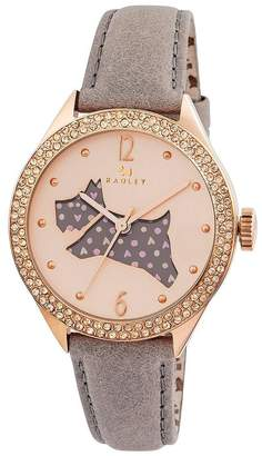 Radley The Great Outdoors Stone-Set Dog Dial Rose Gold Plated Ladies Watch