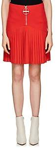 Givenchy Women's Compact Knit & Crepe Miniskirt-Red