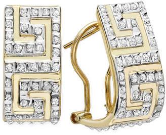 FINE JEWELRY Diamond Fascination 14K Yellow Gold Greek Key Hoop Earrings