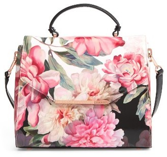 Ted Baker London Payeton Posie Large Leather Satchel - Pink $195 thestylecure.com
