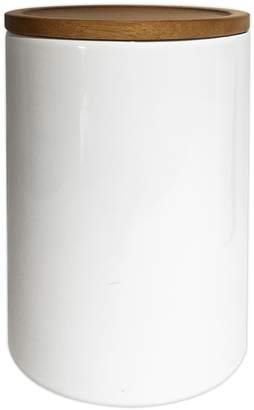 Food Network Large Canister with Acacia Wood Lid