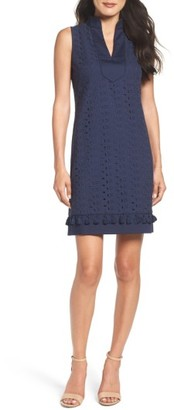 Women's Eliza J Mandarin Collar Shift Dress $128 thestylecure.com
