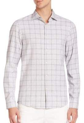 Michael Kors Isaac Slim-Fit Tartan Shirt